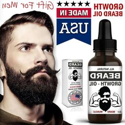 Beard Growth Oil Facial Hair Serum Care Product Mustache Fas