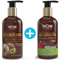 WOW Apple Cider Vinegar Shampoo + Wow Hair Conditioner Set
