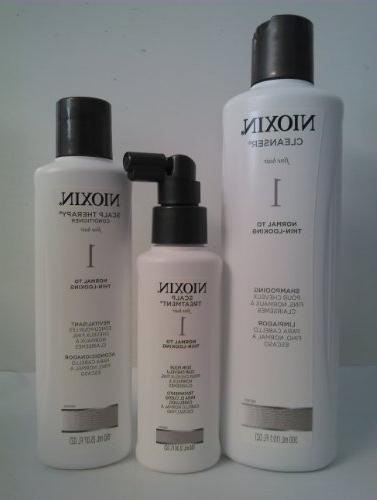 Nioxin System 1 Hair System Kit  With Cleanser 10.1 Oz & Sca