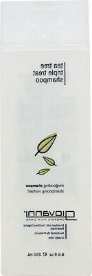 Tea Tree Triple Treat Invigorating Shampoo, Giovanni Hair Ca